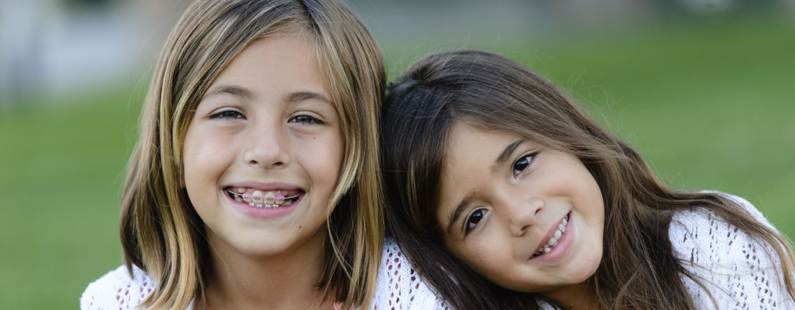 Children with braces at an early age